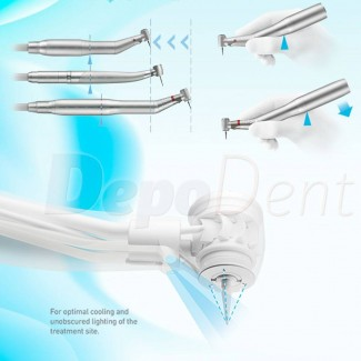 Turbina dental Technoflux con luz LED