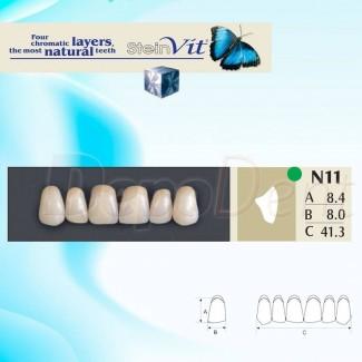 Dientes acrílicos ESTEINVIT 4 capas cromáticas molde N32